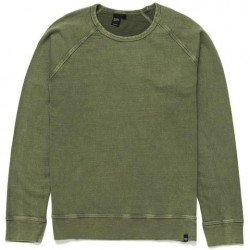 Sweater Deus Ex Machina Arthur Crew- verde - MonegrosCycles