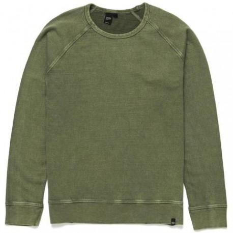 Sweater Deus Ex Machina Arthur Crew- verde - MonegrosCycles
