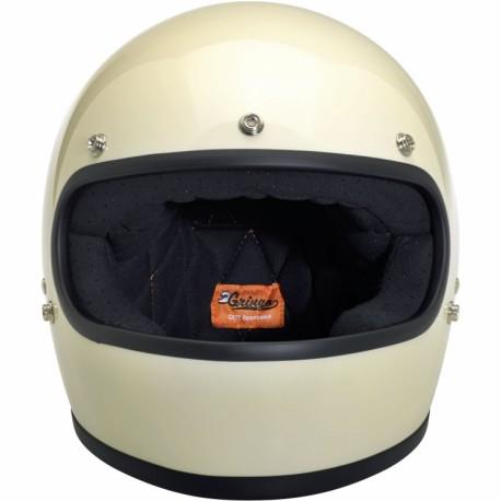 Biltwell helmet Gringo Vintage White