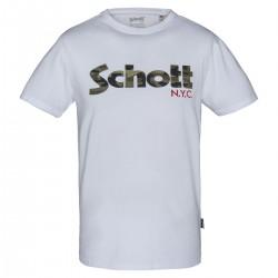 Camiseta Schott TS Flag - blanco