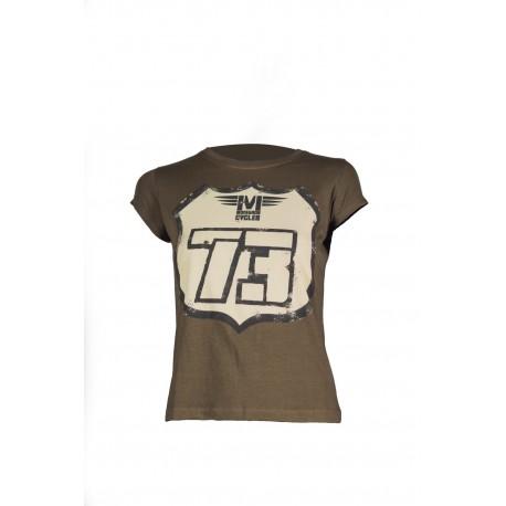 Camiseta Road love kaki mujer