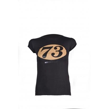 Camiseta Vintage Racer negra mujer