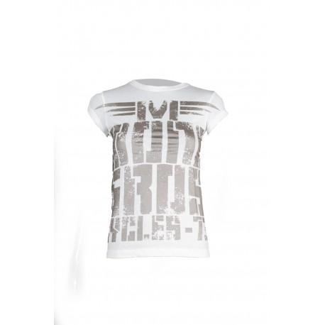 Camiseta Desert Night blanca mujer