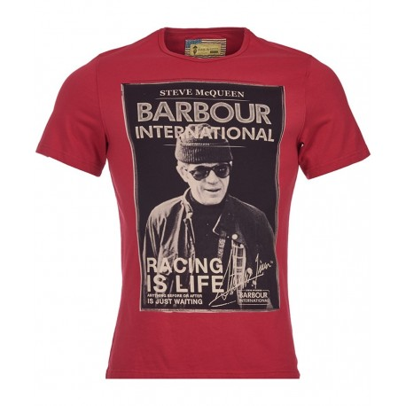 Camiseta Barbour STEVE McQUEEN Apex Rich Red - MonegrosCycles