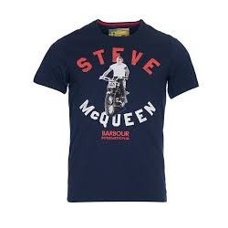 Camiseta Barbour STEVE McQUEEN leap tee navy
