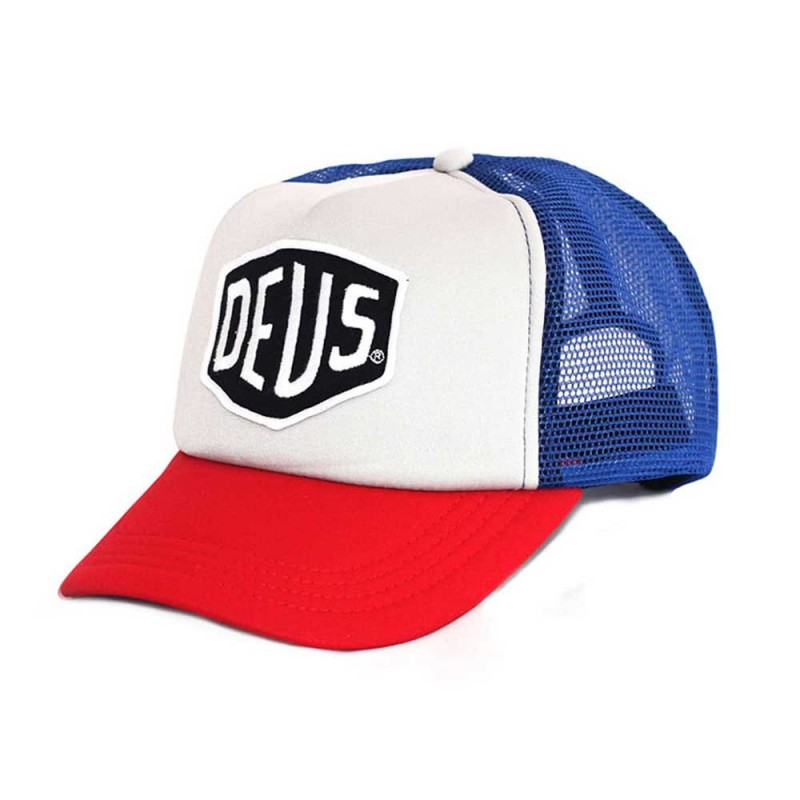 Deus Ex Machina Baylands Trucker red and blue. Loading zoom 1b60ffc5bce