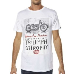 Deus Ex Machina Triumph Trophy blanco - MonegrosCycles