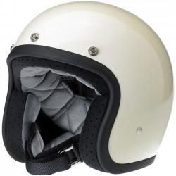 Biltwell Bonanza Vintage White helmet