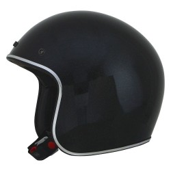 Casco afx-fx 76 metal-flake negro