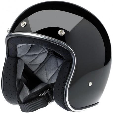 Biltwell Bonanza black gloss jet helmet