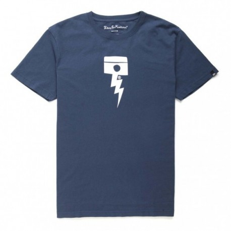 Camiseta Deus Ex Machina Pisstin navy - MonegrosCycles