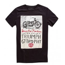 Camiseta Deus Ex Machina Triumph Trophy negra - MonegrosCycles