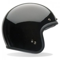 Bell open face helmet - black gloss