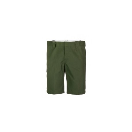 "Short Dickies slim fit olive green 11"""
